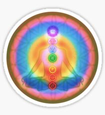 Meditation & the Chakras III Sticker