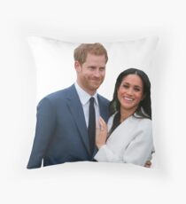 Congratulations Meghan and Harry Throw Pillow