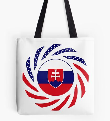 Slovakian American Multinational Patriot Flag Series Tote Bag