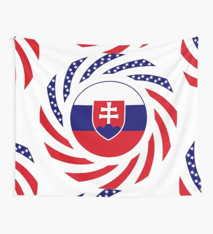 Slovakian American Multinational Patriot Flag Series Wall Tapestry