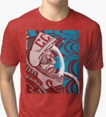 Re-entrY Comrade Red and Blue Tri-blend T-Shirt