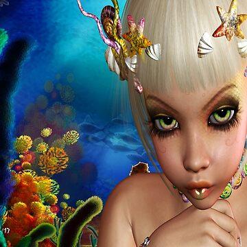 Alternate Sea Mermaid  by FractalKing