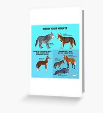 Know Your Wolves Greeting Card