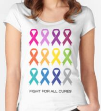 Cancer Ribbons Women's Fitted Scoop T-Shirt