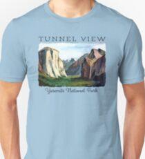 Wawona Tunnel View - Yosemite National Park, El Capitan, Half Dome Unisex T-Shirt