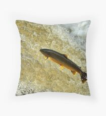 Last Jump of the Evening Throw Pillow