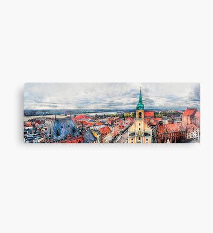 Torun city art 1 #torun #city Canvas Print