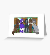 Poodles Greeting Card