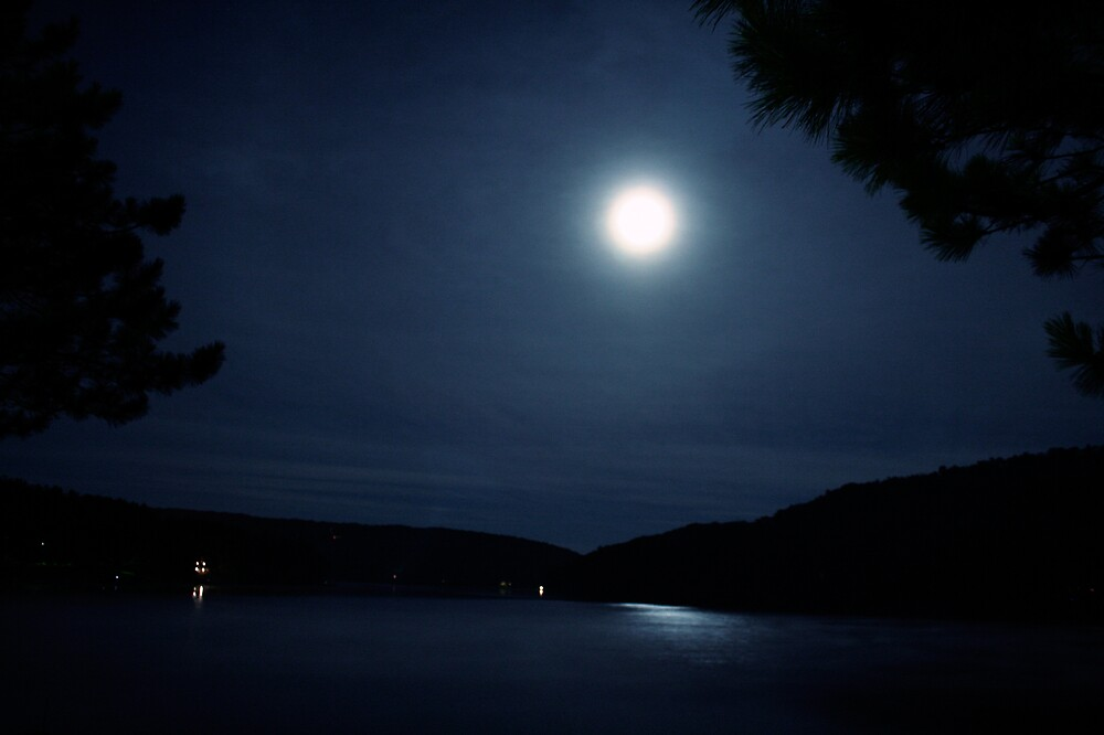Moon Over Deep Creek Lake, Maryland by BrianWilson