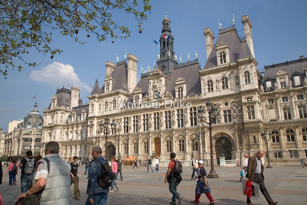 Hotel de Ville, the town hall, Paris, France by Andrew Duke