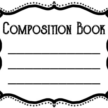 Composition Book Label by spyderfyngers