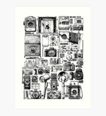 photo cameras Art Print
