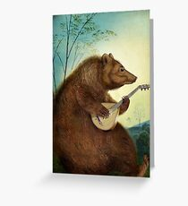 Mandolin Bear Greeting Card