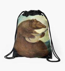 Mandolin Bear Drawstring Bag