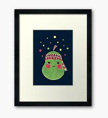Hippie Pear Framed Print