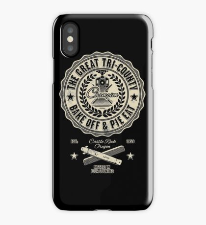 The Great Tri County Bake Off and Pie Eat iPhone Case/Skin