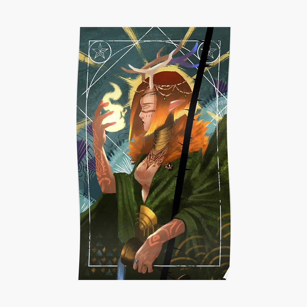 Druid Temperance Tarot Card | Poster
