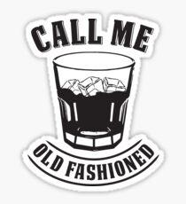 Old Fashioned Whiskey Drink Whisky Rocks Fan Bourbon T-Shirt Sticker