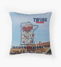 Twins Baseball Throw Pillow