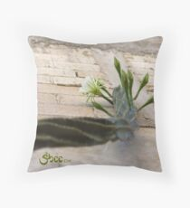 Princess of the Night - Blooming against Urban Wall Throw Pillow