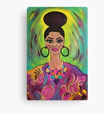 Queen Imani- Her Faith Moved Mountains Canvas Print