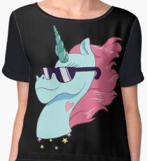Rad Magic Pony Head Chiffon Top