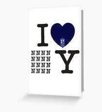 I Love New New York Greeting Card