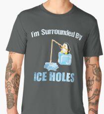 Ice Fishing Penguin Men's Premium T-Shirt
