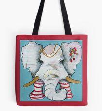 PAPER EAR ELEPHANT Tote Bag