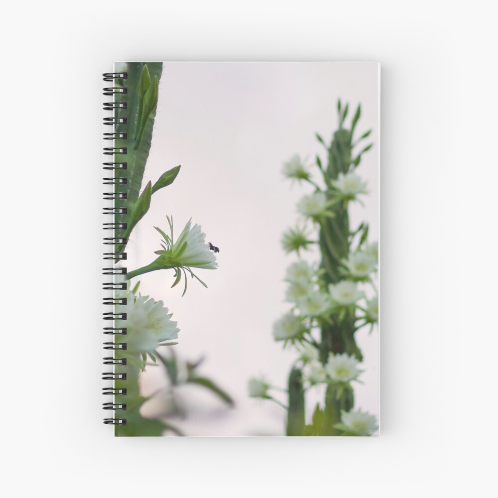 Princess of the Night - Abundance with Bees Spiral Notebook