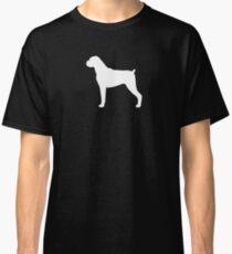 Boxer Dog Silhouette(s) Floppy Ears Classic T-Shirt