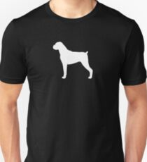 Boxer Dog Silhouette(s) Floppy Ears T-Shirt