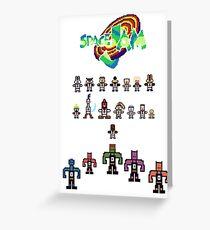 SPACE JAM pixelart Greeting Card