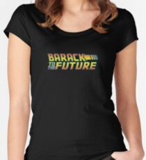 Barack to the Future Women's Fitted Scoop T-Shirt