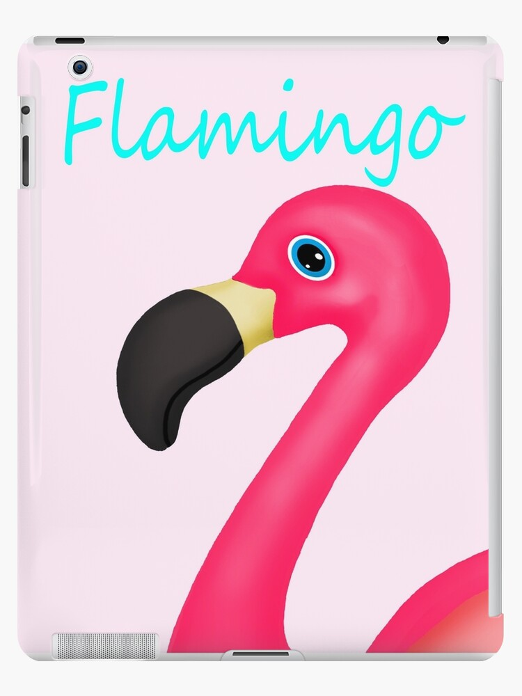 Pink and Teal Flamingo by BeachBumFamily