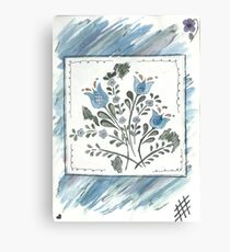 Watercolour Flower Canvas Print