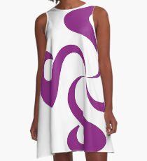 SheeArtworks Spiral Purple - Shee Vector Shape A-Line Dress