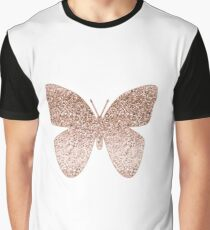 19c1afe5a26e0 Sparkling rose gold butterfly Graphic T-Shirt