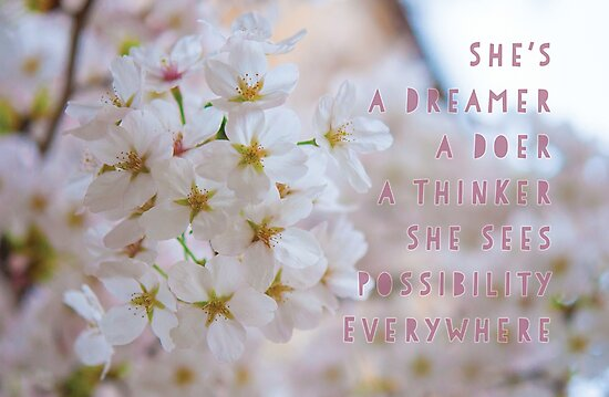 She's a Dreamer, a Doer, a Thinker by NerissaAlford