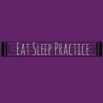 Eat Sleep Practice Repeat II by dweebcocreation