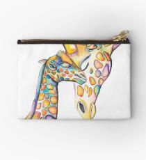Cuddling Rainbow Giraffes Studio Pouch