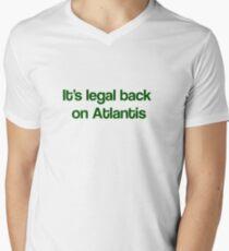 """It's Legal Back On Atlantis""- Green Text T-Shirt"