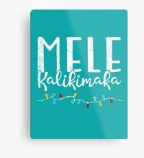 Mele Kalikimaka Hawaii-Weihnachtshemd Metallbild