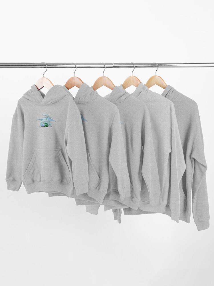 Alternate view of D20 White Dragon Kids Pullover Hoodie