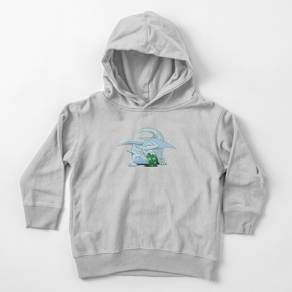 D20 White Dragon Toddler Pullover Hoodie