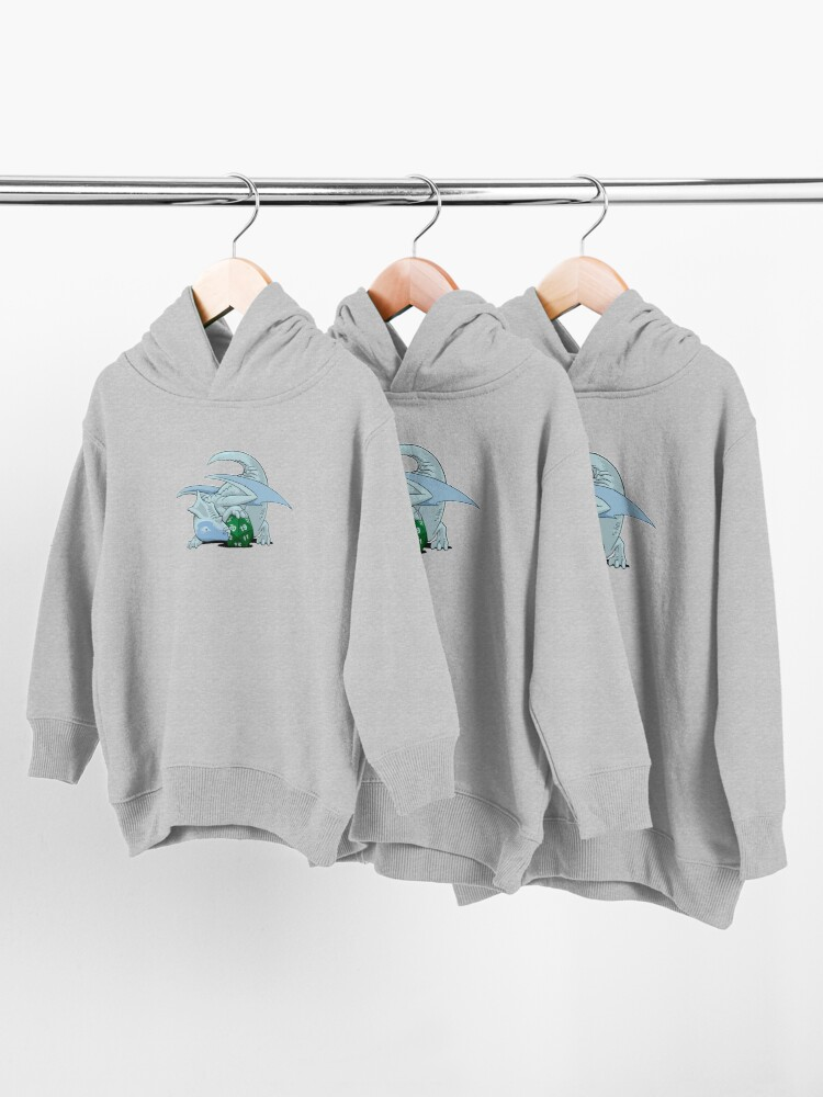 Alternate view of D20 White Dragon Toddler Pullover Hoodie