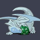D20 White Dragon by Jeff Powers Illustration