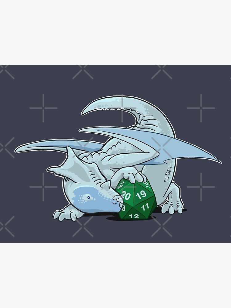 D20 White Dragon by powersdesign