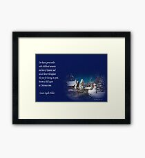 snow scene card Framed Print