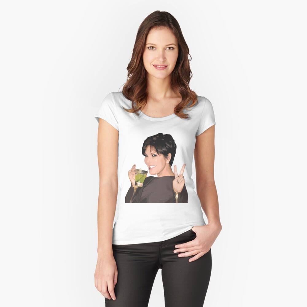 Kris Jenner Fitted Scoop T-Shirt